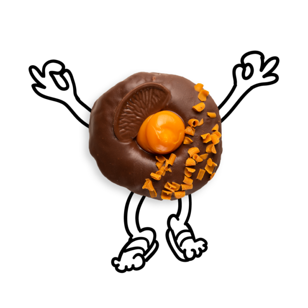 Orange Doughnut With Arms and Legs