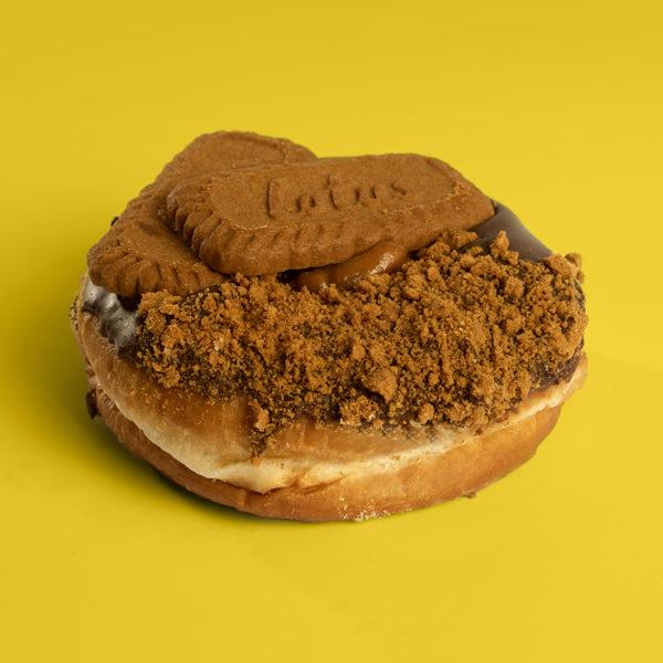 Vegan Caramel Biscoff Doughnut | Planet Doughnut Caramel Biscoff